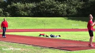 Javelin Coaching - run up part 1
