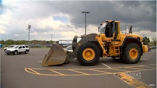 This epic senior prank involved a front-end loader with a school parking pass