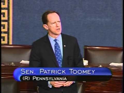 Sen. Toomey urges adoption of farm vehicle amendment on Senate floor