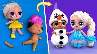 10 Ý Tưởng DIY Búp Bê Frozen!