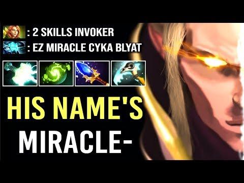 Don't Trash Talk vs Miracle- Invoker GOD Epic Gameplay Comeback WTF Dota 2