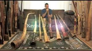Demo of the 8 most popular didgeridoo keys, with instruments made in the USA