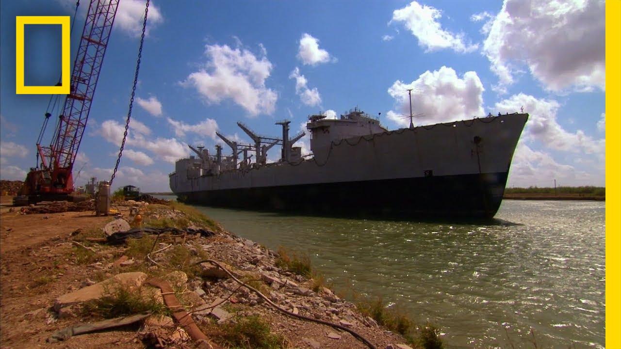 Taking Apart A City Block-Sized US Navy Ship