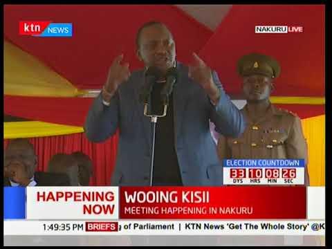 Uhuru Kenyatta's address during the meeting Gusii leaders in Nakuru