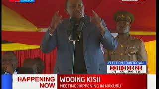 Uhuru Kenyatta's address during the meeting Gusii leaders in Nakuru