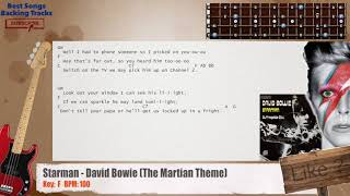Starman   David Bowie (The Martian Theme) Bass Backing Track With Chords And Lyrics