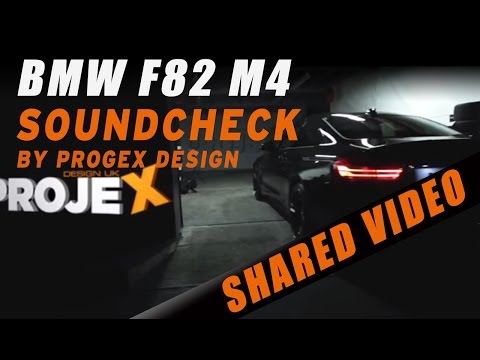 IPE Valve Controlled exhaust on a BMW F82 M4 at Projex Design UK