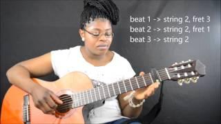 Oliver Mtukudzi   Todii (tutorial  Part1&2 By CamGuitar)