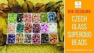 SUPERDUO Czech Glass Beads - New Arrivals