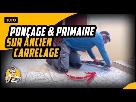 Tuto et conseils - Préparer son support -  Ponçage et primaire sur ancien carrelage comment poncer du carrelage ? - 0 - Comment poncer du carrelage ?
