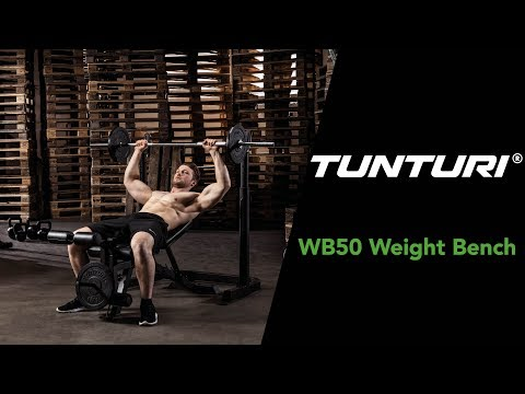 Promovideo: Posilovací lavice TUNTURI WB50 Mid Width Weight Bench