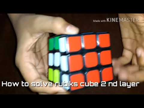 How to slove rubik's cube second layer