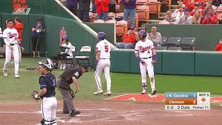 Clemson Baseball || North Carolina Game Highlights - 3/10/19