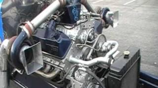 8V92 Detroit Diesel On The Smurf Dragster At Truckin' For Kids 2010