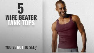 Top 10 Wife Beater Tank Tops [Winter 2018 ]: Hanes Mens Tagless A-Shirt 4-Pack,Multi,S