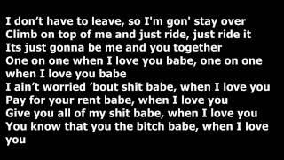 Casey Veggies Ft. Chris Brown - One On One {Lyrics}