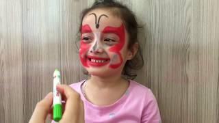 Yüz Boyama Kelebek видео смотреть