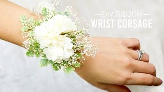 DIY Ribbon Wrist Corsage | Simple And Easy
