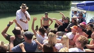 Isar-Floßfahrt 2017 mit den Rockaholixs Buam und DJ Woiferl