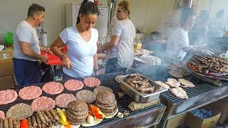 Top Street Food from the Balkans Best Meat Roasted on Huge Grills