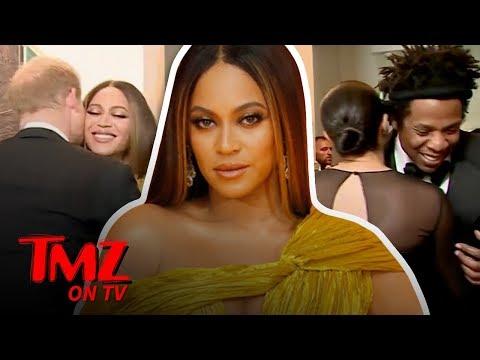 Queen B & Jay-Z Greet Meghan Markle & Prince Harry At 'UK' Lion King Premier | TMZ TV