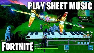 "Fortnite ""Play Sheet Music at Oversized Piano"" - Location & Guide"