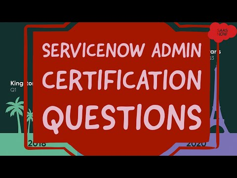 #1 ServiceNow Admin Certification Questions | Interview and ...