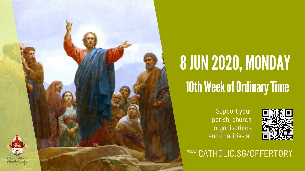 Catholic Daily Mass Monday 8th June 2020