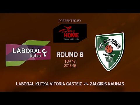 Highlights: Top 16, Round 8, Laboral Kutxa 71-65 Zalgiris Kaunas