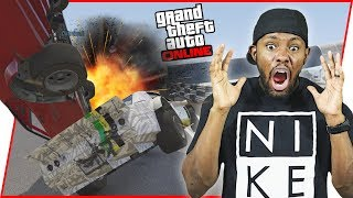 WHEN YOU'RE IN 1ST PLACE AND THE UNTHINKABLE HAPPENS! - GTA Online Race Gameplay