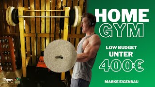 HOMEGYM für unter 400€ - Power Rack, Beton Gewichte, Kabelzug selber bauen