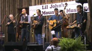 Donna Hughes, Tony Rice & others backstage at Lil' John's Mountain Music Festival