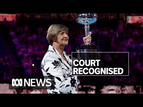 Controversial tennis great Margaret Court presented with trophy at Australian Open   ABC News