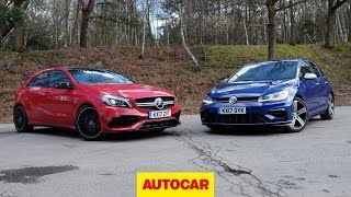 [Autocar] Mercedes-AMG A45 versus Volkswagen Golf R review | 4wd hot hatches go head to head