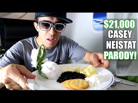 THE $21,000 FIRST CLASS AIRPLANE SEAT Casey Neistat PARODY!