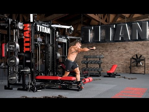 Cable Twisting Standing Chest Press