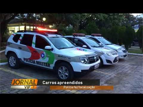 Carros com registros de furtos são apreendidos em barreira policial