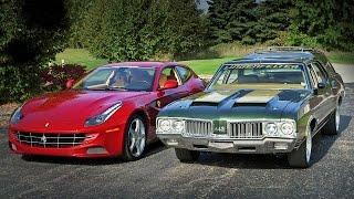 1970 Oldsmobile Cruiser vs 2012 Ferrari FF - Generation Gap: Family Cruisers