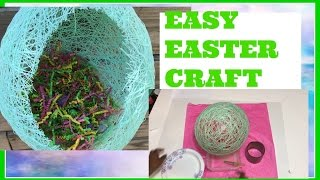 Diy String Easter Basket Easy & Cheap