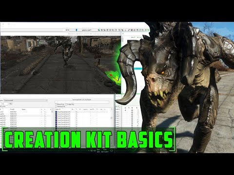 Fallout 4 Creation Kit - The Basics - How to download ,load data ,move items, upload to bethesda.net