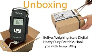 Unboxing portable electronic scale ,Bulfyss Weighing Scale Digital Heavy Duty Portable
