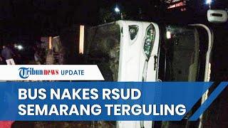 Nekat Berwisata, Bus Rombongan Nakes RSUD Semarang Terguling di Gunung Kidul, Dinas Sesalkan Ini