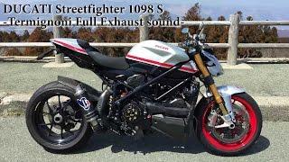 Ducati Streetfighter 1098 S Custom Termignoni Full Exhaust Sound