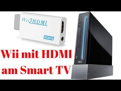 Nintendo Wii HDMI Adapter am Smart TV anschließen Fernseher Vergleich AV Kabel HD TV Konsole