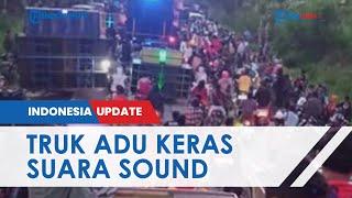 Adu Keras Suara Sound System dari Atas Bak Truk di Lumajang, Picu Kerumunan Dibubarkan Polisi