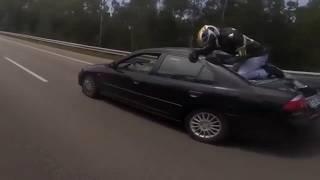 Удачные приземления мотоциклистов после ДТП / Successful accidents for motorcyclists