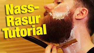 SO KLAPPT DAS RASIEREN mit Rasiermesser! | Rasuranleitung Nassrasur