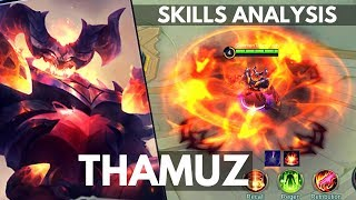 THAMUZ : NEW FIGHTER HERO SKILL AND ABILITY EXPLAINED | Mobile Legends