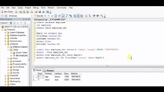How to create Table,Insert,Update,Delete in SQL Server very easy steps