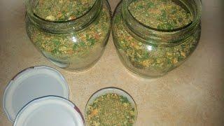 Приправа из овощей и грибов на зиму в сушылке. Вкус лета - зимой!